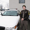 Record-Eagle/Alex Piazza<br /> Grand Traverse Sheriff's Sgt. Brian Giddis hit a deer with his patrol vehicle Friday on U.S. 31 South, his third such deer collision while on the job. Repairs were made shortly after the accident.