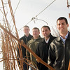 Record-Eagle/Jan-Michael Stump<br /> Cherry Bay Orchards is buying Chateau de Leelanau from a Wisconsin heart surgeon. From left Roger Veliquette, Matt Gregory, Andrew Gregory and Mark Miezio will run the winery.