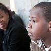 Record-Eagle/Douglas Tesner<br /> Matthew Petit-Frere recalls his recent experiences during the earthquake in Haiti as his mother Marcia  listens to him. Marcia was also in the quake along with her husband, the Rev. Jean Heder Petit-Frere.<br /> .