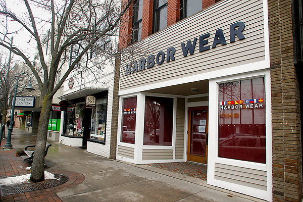 Record-Eagle/Jan-Michael Stump<br /> Harbor Wear, seen here at 125 East Front St., and M-22, currently at 121 East Front St., will be swapping locations with each other.
