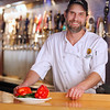 Record-Eagle/Jan-Michael Stump<br /> 7 Monks Taproom Executive Chef Jon Eakes will be preparing a mild Michigan venison chili, garnished with Amish sharp cheddar creme fraiche for the upcoming Downtown Chili Cook-Off.