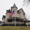 Record-Eagle/Keith King<br /> The American flag flies at half-staff in front of the Reynolds Jonkhoff funeral home in Traverse City Thursday, January 12, 2012 for Technical Sgt. Matthew S. Schwartz who died in Afghanistan.