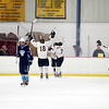 Record-Eagle/Jan-Michael Stump<br /> Traverse City Central players celebrate a goal in Friday's 4-1 win over Livonia Stevenson.