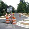 Record-Eagle/Art Bukowski<br /> Elmwood Avenue's new intersection with Bay Street is at a curve to encourage slow speeds.