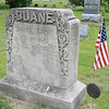 "Record-Eagle/Loraine Anderson<br /> The flag holder next to David Duane's grave monument at Oakwood Cemetery in Traverse City says ""Confederate.""  He is the only Confederate soldier buried there and possibly the entire region."