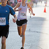 Record-Eagle/Jan-Michael Stump<br /> Kathryn Fluehr (1226) of Leland finishes the Meijer Festival of Races 5k Saturday.