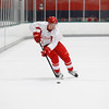 Record-Eagle/Jan-Michael Stump<br /> Dean Chelios skates with the puck in a drill during the Detroit Red Wings Skill Development Camp Thursday at Centre ICE Arena.
