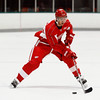 Record-Eagle/Jan-Michael Stump<br /> Ryan Sproul takes a shot during Detroit Red Wings Development Camp Thursday at Centre ICE.