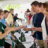 Record-Eagle/Jan-Michael Stump<br /> The Global Wine Pavilion at Marina Park featured 14 wine importers, 3 beer importers and 4 restaurants. Nearly 400 visitors visited on its first night.