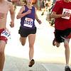 Record-Eagle/Jan-Michael Stump<br /> 5k women's winner Margot McGlothlin nears the finish line in Saturday's  National Cherry Festival Meijer Festival of Races.