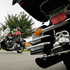 Record-Eagle/Keith King<br /> Brandi Christians, of Traverse City, rides her motorcycle near Classic Motor Sports.