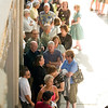 "Record-Eagle photo/Jan-Michael Stump<br /> Ticket holders line up outside the City Opera House for Tuesday evening's showing of  ""Troubled Water."""
