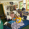Record-Eagle/Jan-Michael Stump<br /> Chris Allen-Wickler, left, her daughters Zoe, 17, middle, and Olivia, 13, and her husband Roger (not pictured) will be hosting six people in their Lake Leelanau home during the Traverse City Film Festival.