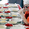Record-Eagle/Jan-Michael Stump<br /> Levi Proehl, 6, of Traverse City waits to start making his cherry pie at the Grand Traverse Pie Make and Bake Thursday during the National Cherry Festival.