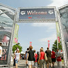 Record-Eagle/Keith King<br /> Festival goers walk toward the National Cherry Festival on Saturday during the opening day of the festival.