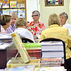 "Record-Eagle/Vanessa McCray<br /> Members of a book group organized by the American Association of University Women meet at Horizon Books in Traverse City. The women talked about their June book selection ""Sarah's Key"" and prepared a list of books to read over the next year."