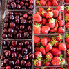 Record-Eagle/Douglas Tesner<br /> Michigan Cherries and strawberries where abundant at several vendors at the National Cherry Festival.