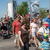 Record-Eagle/Douglas Tesner<br /> Crowds cross Grandview Parkway as they go to and from the National Cherry Festival.