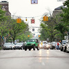 Record-Eagle/Keith King<br /> A vehicle turns onto Front Street in downtown Traverse City.