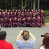 Record-Eagle/ Keith King<br /> The Traverse City High School Class of 2010 has their photo taken outside of the Dennos Museum Center prior to the start of their graduation ceremony in Milliken Auditorium.