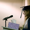 Record-Eagle/Jan-Michael Stump<br /> Grand Traverse Academy salutatorian Dana McCarthy gives her speech during Friday's commencement exercises.