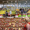 Record-Eagle/ Keith King<br /> Customers shop the newly renovated produce section of Meijer Friday in Traverse City. Some of the rows in the new store are staggered and lowered to allow for easier visibility and improved flow of customers.