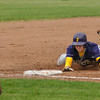 Record-Eagle/ Keith King<br /> Frankfort's Kyle Zimmerman slides into third for a triple.