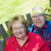 "Record-Eagle/Jan-Michael Stump<br /> Priscilla Cogan and her husband Duncan Sings-Alone recently had a bear visit their Leland home. ""I've been up here 62 summers, and never before had I seen a bear,"" Cogan said."