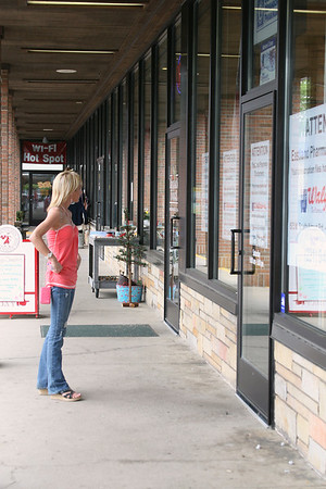 "Record-Eagle/Laura Wright<br /> ""I'm shocked. I was just here a couple days ago. I wish someone would have told me about it,"" said Kristen Utsler when she approached Eastland Drugs Thursday afternoon, reading the signs that the store had closed that morning."