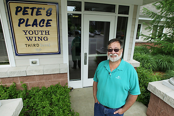 Record-Eagle/Keith King<br /> Ken Homa, executive director of Third Level Crisis Intervention Center, stands outside of Pete's Place, a shelter for teens.