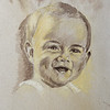 Record-Eagle/Keith King<br /> Eve Howe's father painted this image of Howe as a baby.