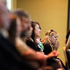 Record-Eagle/Jan-Michael Stump<br /> Mourners listen during Monday's memorial service.