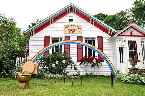 Record-Eagle/ Vanessa McCray<br /> Collector David Chrobak is preparing to open Pot of Gold, a consignment and resale shop in Northport that he will stock with his belongings acquired during years of travel.