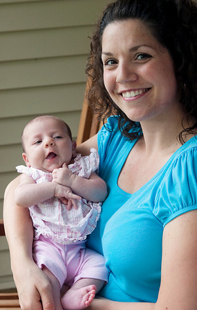 Record-Eagle/Douglas Tesner<br /> Abby Leppien and daughter Lucy, six weeks old, are just two of the many people who use the Healthy Futures program, which is marking its 10th year. The program provides help and support to mothers and babies.