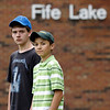 Record-Eagle/Jan-Michael Stump<br /> Matt Ingersoll, 15, left, and Preston Leonard, 14, both play in the band at Forest Area Schools, which may cut their music program due to budget cuts.