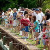 Record-Eagle/Jan-Michael Stump<br /> A record 810 people participated in Saturday's fourth annual Kids Free Fishing Day at the Great Lakes Campus of Northwestern Michigan College.