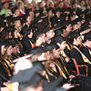Record-Eagle/Keith King<br /> Graduating seniors listen during the Traverse City Central High School commencement in Kresge Auditorium at the Interlochen Center for the Arts.