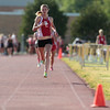 Record-Eagle/Jan-Michael Stump<br /> Benzie Central's Theresa Warsecke wins the 1600 meters in Tuesday's Honor Roll Meet at Traverse City Central.