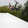 Record-Eagle/Keith King<br /> Derek Huntoon, 18, of Midland, catches big air on a practice run for the wakeboard aerials and pro competition during the Great Wakes Festival at the Open Space.