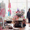 Record-Eagle/Jan-Michael Stump<br /> Jody Heavner of Pittsfield, Ill shops in Frannie's Follies, which opened in the ground floor of a new building in downtown Frankfort, which will hold two second-story condos and one 3,300 square-foot condo when it is completed.