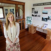Record-Eagle/Keith King<br /> Susan Pocklington, director of Preserve Historic Sleeping Bear, stands inside the Charles and Hattie Olsen House in the Port Oneida Rural Historic District of the Sleeping Bear Dunes National Lakeshore.