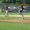 Record-Eagle/Mike Eckert<br /> Central's Zack Dorer delivers a pitch to the plate in the championship game with TC West.