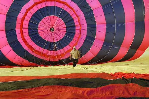 Record-Eagle file photo<br /> Jeff Geiger, of Grand Traverse Balloons, is shown with one of his hot air balloons. Geiger is planning the Grand Traverse Balloon Classic, a June 17-19 event in Traverse City with about 25 hot air balloons expected to participate.