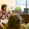 Record-Eagle/Jan-Michael Stump<br /> Blair Elementary School third grade teacher Carol Dean reads a story to her class on their second-to-last day of school Thursday.