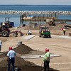 Record-Eagle/Jan-Michael Stump<br /> Work continues on the Leland Harbor, including the new boater services building and the parking lot.