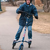 Record-Eagle/Douglas Tesner<br /> Tammy St. Pierre takes her Trikke for a spin on the Boardman Lake Trail in Hull Park.