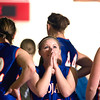 Record-Eagle/Jan-Michael Stump<br /> Central Lake's Makenna Scott (20) looks at the scoreboard near the end of regulation in Tuesday's overtime win over Mt. Pleasant Sacred Heart.