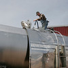 Record-Eagle/Douglas Tesner<br /> Dick Olds checks the flow of maple sap in one of his holding tanks at Olds Brothers Maple Syrup in Kingsley in 2009.