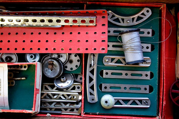 Record-Eagle/Jan-Michael Stump<br /> Leon Vietzke's vintage toys, such as this erector set, will be on display at the Grand Traverse Heritage Center March 19-21.