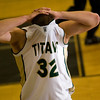 Record-Eagle/Jan-Michael Stump<br /> Traverse City West's Jake Fisher (32) reacts following Monday's regional playoff game loss to Grand Haven.